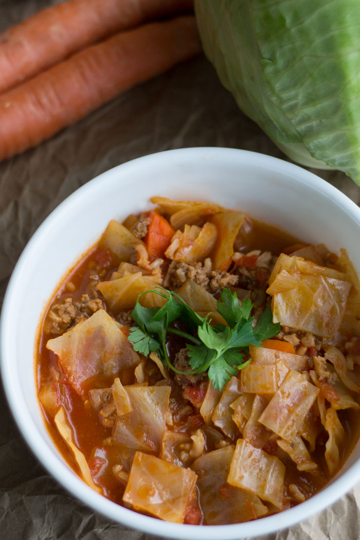 This yummy unstuffed cabbage soup really satisfies!